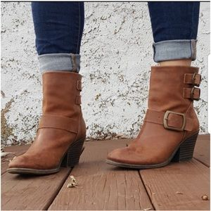Lucky Brand Brown Lp-tommie Boots/Booties